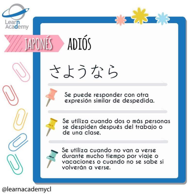 adios en japonés learn academy saludos aprender japonés